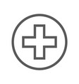 public navigation line icon clinic medical post vector image