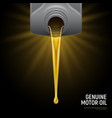 realistic motor oil black background vector image