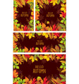 set of banners of autumnal leaves vector image vector image