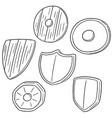 set of shield vector image vector image