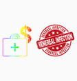 spectral pixelated medical business case vector image vector image