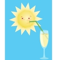 sun drinks from a tubule vector image vector image