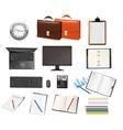 super mega set business supplies vector image vector image