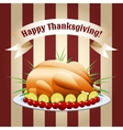 symbol thanksgiving day fried turkey vector image