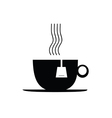 tea cup black vector image