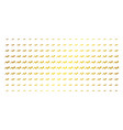 trend gold halftone matrix vector image vector image