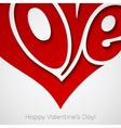 valentines card with lettering happy vector image vector image
