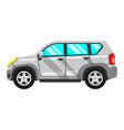white off-road vehicle isolated on vector image