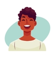Young african man face laughing facial expression vector image vector image
