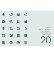 Set of photography and camera functions icons vector image
