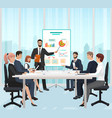 a manager businessman leading the presentation vector image