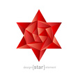 luxury crystal flower vector image