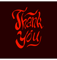 thank you script hand vector image