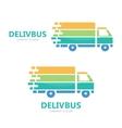 Truck logo design Fast delivery symbol or vector image