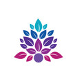 leaf abstract beauty spa logo image image vector image