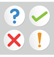A set of four simple web buttons vector image vector image