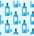 alcohol drinks beverages cocktail bottle seamless vector image vector image