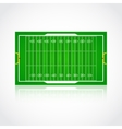 American football realistic textured field vector image vector image