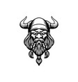 angry head viking mascot logo silhouette vector image vector image