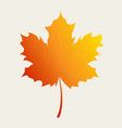 autumn leaf in gradient color vector image vector image