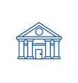 bankcourt of justice line icon concept bank vector image vector image