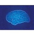 Blue Technology Brain vector image