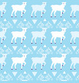 blue winter reindeer folk seamless pattern vector image