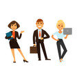 business people icons of manager clerk and vector image vector image