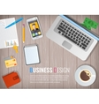 Business workplace Office Work in a team vector image