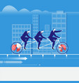businessmen riding tandem vector image vector image