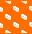 chest drawers pattern orange vector image vector image