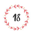 christmas advent calendar hand drawn elements vector image vector image