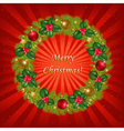 christmas wreathe vector image vector image