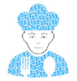 cook man composition of dollar vector image