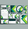corporate business stationery template set mockup vector image