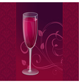 design glass wine vector image