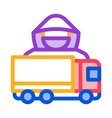 driver truck concept icon outline vector image