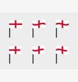 england flag icons set national flag england vector image vector image