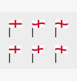 england flag icons set national flag vector image vector image