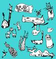 Fancy cats vector image