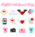 flat with valentine s day images vector image vector image