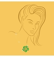 girl with gold vector image