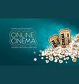 gold cinema tickets vector image