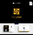 gold luxury initial b logo template and business vector image vector image