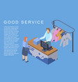 good laundry service concept background isometric vector image vector image