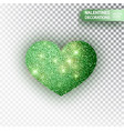 heart green glitter isoleted on transparent vector image