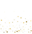 holiday background with little golden stars vector image