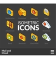 Isometric outline icons set 30 vector image