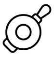 kitchen wok frying pan icon outline style vector image vector image