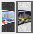 layouts for san francisco vector image